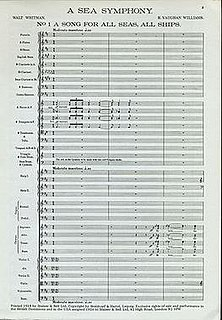 <i>A Sea Symphony</i> Symphony composed by Ralph Vaughan Williams