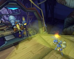 Sly 2: Band of Thieves - The protagonist of the game, Sly Cooper in a confrontation with an enemy