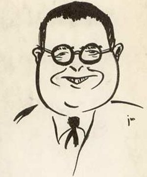 T. E. Dikty - Dikty as caricatured in 1958