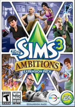 The Sims 3 Ambitions American box art.jpg