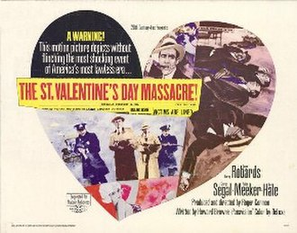 The St. Valentine's Day Massacre (film) - Theatrical release poster