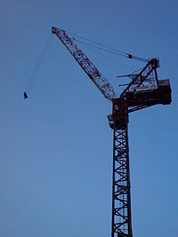 Luffing tower crane,Singapore