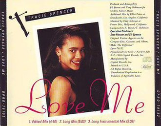 Love Me (Tracie Spencer song) - Image: Tracieloveme