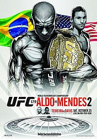 A poster or logo for UFC 179: Aldo vs. Mendes 2.