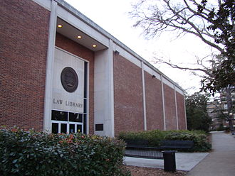 University of Georgia School of Law - Entrance to the Alexander Campbell King Law Library, University of Georgia School of Law