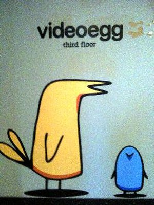 SAY Media - videoegg mascot from company headquarters in San Francisco
