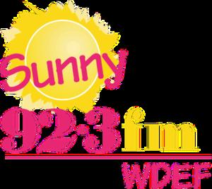 WDEF-FM - Image: WDEF Sunny 92.3fm logo
