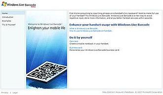 Windows Live Barcode - Windows Live Barcode website