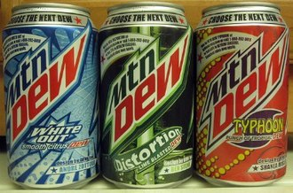 Mountain Dew - Dewmocracy 2: Collective Intelligence (2010) flavor finalists: White Out, Distortion, and Typhoon