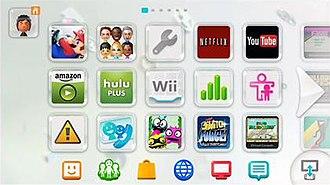 Wii U system software - Image: Wii U Menu screenshot
