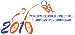 2010 Wheelchair Basketball World Championship - Image: 2010 Wheelchair Basketball World Championship logo