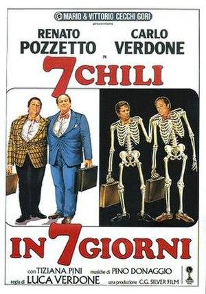 7 chili in 7 giorni - Italian theatrical release poster