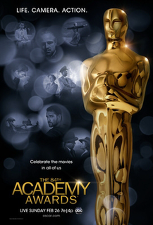 84th Academy Awards Award ceremony presented by the Academy of Motion Picture Arts & Sciences for achievement in filmmaking in 2011