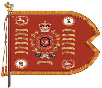 8th Canadian Hussars (Princess Louise's) - The Guidon of the 8th Canadian Hussars (Princess Louise's).