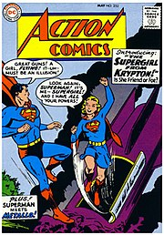 This Action Comics cover from 1959 ends every sentence with an exclamation mark or question mark.  Often, few or no periods would be used in the entire book.
