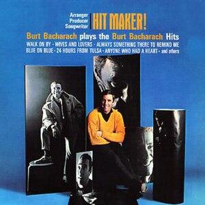 Hit Maker!: Burt Bacharach plays the Burt Bacharach Hits - Image: Album cover for Burt Bacharach's Hit Maker!