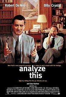 <i>Analyze This</i> 1999 film by Harold Ramis