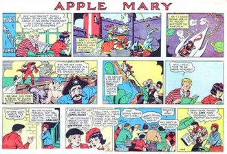 Allen Saunders - Allen Saunders' and Dale Conner's Apple Mary, subtitled, Mary Worth's Family (February 4, 1940)