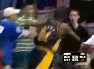 National Basketball Association criticisms and controversies - Ron Artest was a major participant in the infamous Pacers–Pistons brawl.