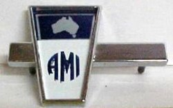 AMI emblem attached on American Motors cars assembled during 1968-1978