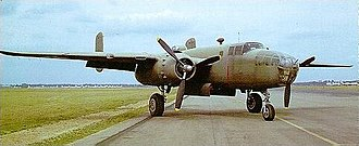 Medium bomber - The USAAF B-25B Mitchell, a medium bomber.