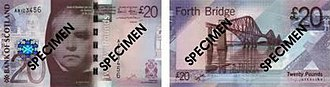 Banknotes of the pound sterling - A Bank of Scotland £20 note of the 2007 issue