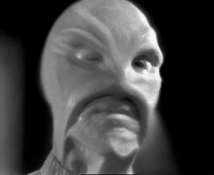 "Barney and Betty Hill - An alien (played by actor John Hoyt) depicted on television twelve days before the making of Hill's ""Grey"" hypnosis tape"