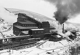 Bingham Canyon Mine - Utah Copper Co. Mill, Bingham Canyon, circa 1910