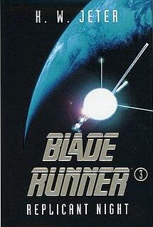 <i>Blade Runner 3: Replicant Night</i> Science fiction novel by K. W. Jeter