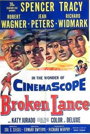 Broken Lance - Theatrical release poster
