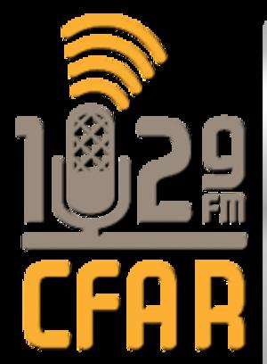 CFAR (AM) - Image: CFAR 102.9fm logo