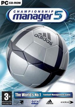 Box art for the Windows version of Championship Manager 5
