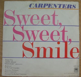 Sweet, Sweet Smile 1978 single by The Carpenters