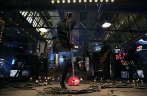 """Cherry Lips - Garbage were digitally-removed from the """"Cherry Lips"""" video to give the effect of invisibility."""