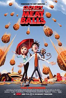 <i>Cloudy with a Chance of Meatballs</i> (film) 2009 animated film by Christopher Miller and Phil Lord
