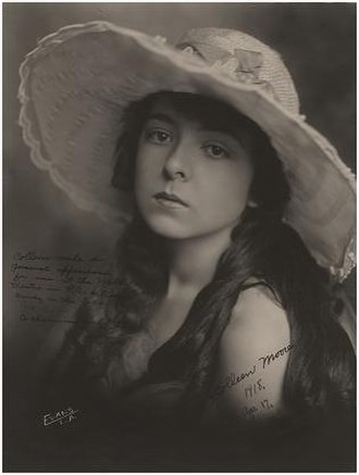 Colleen Moore - Portrait of Colleen Moore by Los Angeles photographer Evans, photographed in 1918 in the early stages of her career