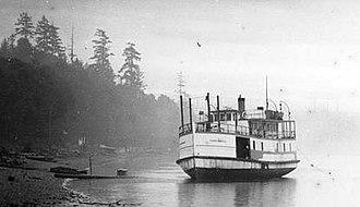 Concordia (steamboat) - Image: Concordia aground
