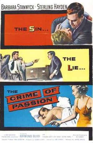 Crime of Passion (1957 film) - Theatrical release poster