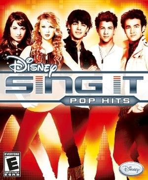 Disney Sing It: Pop Hits - Image: Disney Sing It Pop Hits Cover