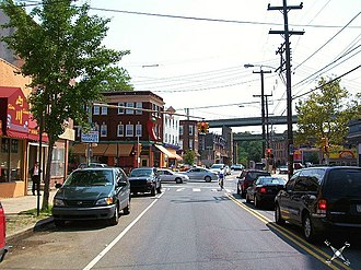 East Falls, Philadelphia - East Falls at Ridge Avenue and Midvale Avenue
