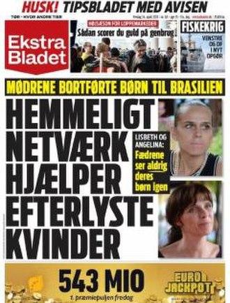 Ekstra Bladet - Image: Ekstra bladet friday 14 04 2017 cover