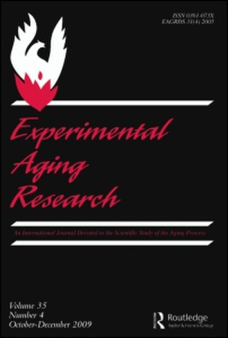 Experimental Aging Research - Image: Experimental Aging Research.cover