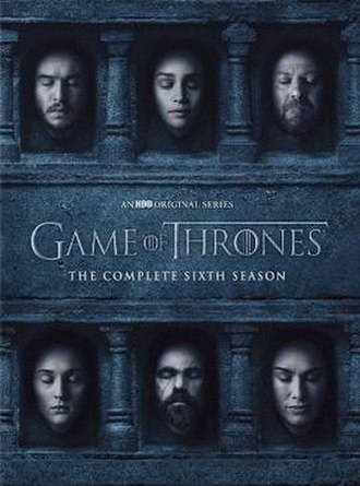Game of Thrones (season 6) - Region 1 DVD cover