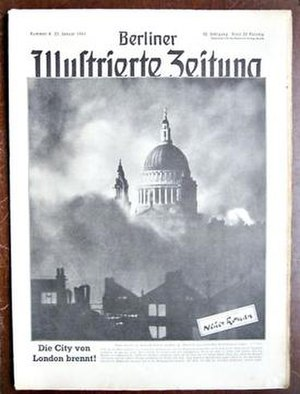 St Paul's Survives - Image: German Magazine showing famous Blitz Image