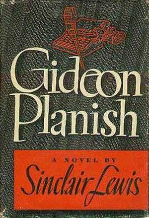 Gideon Planish - First edition cover  (Random House)
