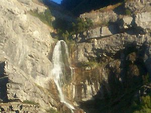 Bridal Veil Falls in Provo Canyon between Orem and Heber City.