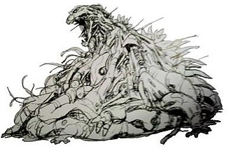"Mechagodzilla - Early concept art of Mechagodzilla's Heisei incarnation, dubbed ""Berserk"""