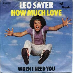 How Much Love (Leo Sayer song) - Image: How Much Love 45 RPM