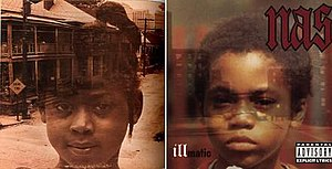 Illmatic - The cover of the 1974 jazz album, A Child Is Born (seen left) has been cited as a possible influence on Illmatics artwork.