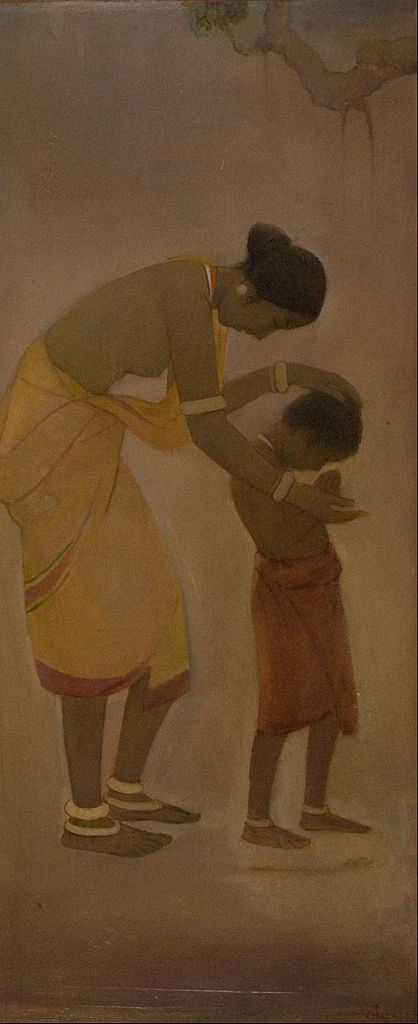 File Jamini Roy Mother And Child Google Art Project Jpg Wikipedia